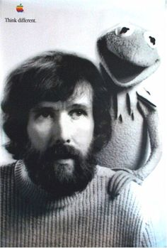Jim Henson (1936-1990) inventor, puppeteer, creator of fantastic puppets. What a talented man, and what fun to grow up with his masterful puppetry on Sesame Street, The Muppets,  Labyrinth  and The Dark Crystal.