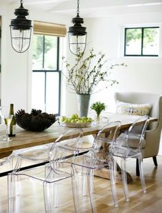 mix up chair styles for a fun dining experience