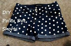 Polka Dot Shorts #howto #tutorial