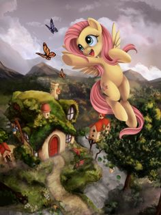 I don't think Fluttershy would risk her life for three copy-pasted butterflies. Fluttershy, Discord, Mlp My Little Pony, My Little Pony Friendship, Imagenes My Little Pony, My Little Pony Drawing, Little Poni, Mlp Fan Art, My Little Pony Pictures