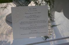 il menu d'appoggio per il buffet in giardino creato da Azuleya