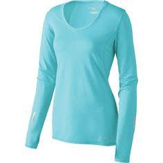 V-neck running shirt for women: Brooks Essential LS V-neck  AAAAAAHHHHH!!! <3 <3 <3 <3