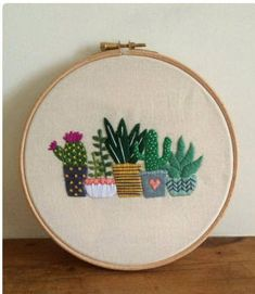 Excited to share the latest addition to my #etsy shop: Cactus art http://etsy.me/2nRm1UC #art #fiberart #cactusart #handmadeart #cactushoop #cactusdecor #embroidery #urbanstudiocreations