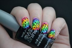 Nails by Kayla Shevonne: Nail Art Tutorial - Rainbow Leopard Print