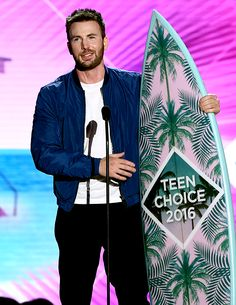 Chris Evans accepts the award for Choice Movie Actor onstage during Teen Choice Awards 2016 at The Forum on July 31, 2016 in Inglewood, California.