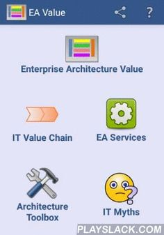 Enterprise Architecture Value  Android App - playslack.com , Enterprise Architecture (EA) Value app provides information and tools on architecture concepts. It shows how Enterprise Architecture provides value to business and IT throughout the IT Value Chain. It also consists lists of tools on specific architecture areas and games about IT myths.This app is for anyone interested to learn about enterprise architecture and for IT community to utilise the tools to assist their work.The main…