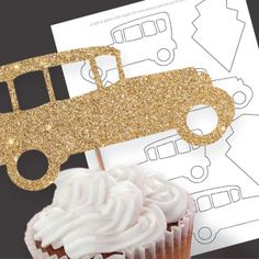 FREE great gatsby inspired cupcake topper template by idoityourself