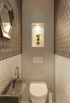 Space Saving Toilet Design for Small Bathroom Home to Z Understairs Ideas bathroom Design home Saving Small Space Toilet Washroom Design, Bathroom Design Luxury, Bathroom Tile Designs, Bathroom Design Small, Bathroom Layout, Small Bathrooms, Bathroom Ideas, Bath Design, Space Saving Toilet