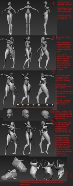 a few people have asked for a breakdown of my workflow, so i have included a quick little tutorial on how i created this sculpture. It isn't very in depth, but hopefully it will give you an idea of my process Zbrush Character, 3d Model Character, Character Modeling, 3d Modeling, Character Art, Zbrush Tutorial, 3d Tutorial, Body Reference, Anatomy Reference