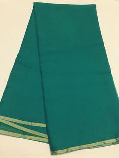Pure silk chiffon saree