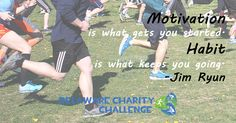 Monday Motivational Quote: Motivation is what gets you started. Habit is what keeps you going. — Delaware Charity Challenge