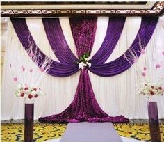 2013 wedding background yarn curtain Wedding Backdrops Wedding stage decor-inEvent & Party Supplies from Home & Garden on http://Aliexpress.com