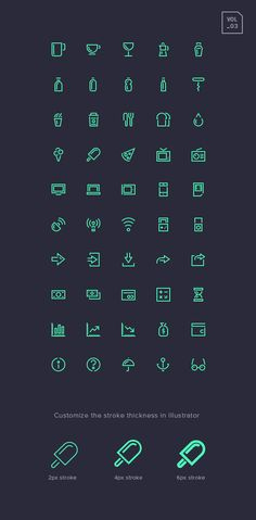 I'm happy to introduce the third volume of the stroke gap icons set, 50 more beautiful icons to use in your projects...