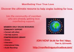Join the community of members who are already getting love manifesting support. http://manifestingyourtruelove.com/