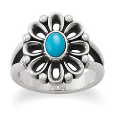 New De Flores Ring with Turquoise from James Avery Jewelry