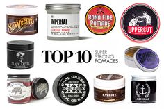 TOP 10 SUPER STRONG HOLD WATER-BASED POMADES