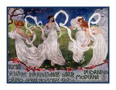 International Decorativa by Alphonse Mucha Counted Cross Stitch or Counted Needlepoint Pattern