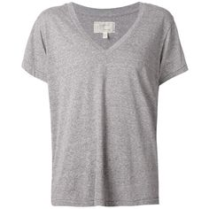Current/Elliott V-Neck T-Shirt ($88) ❤ liked on Polyvore featuring tops, t-shirts, grey, grey v neck t shirt, gray v neck t shirt, grey top, vneck tee and current elliott t shirt