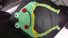 Gorro de rana tejido Crochet Necklace, Jewelry, Fashion, Beanies, Tejidos, Art, Moda, Jewlery, Jewerly