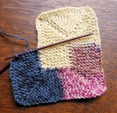 Juntitoscrafts punto y manualidades: Manta en espiral ideal para ir gastando restos de lanas:Ten Stitch Blanket