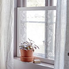 DIY window treatment ideas may prepare you to inject some new life into your window decor this season. Get inspired and find the best designs for Bathroom Window Curtains, Privacy Curtains, Window Privacy, Bathroom Windows, Net Curtains, Window Coverings, Window Treatments, Classic Blinds, Curtains Or Shades