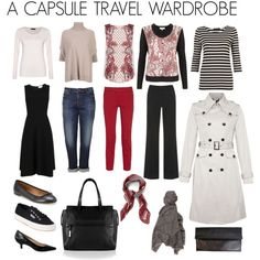 CAPSULE TRAVEL WARDROBE by whateverywomanneeds on Polyvore