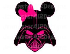 Star Wars Darth Vader Mickey Pink Bow DIY Printable Iron On Transfer Digital File
