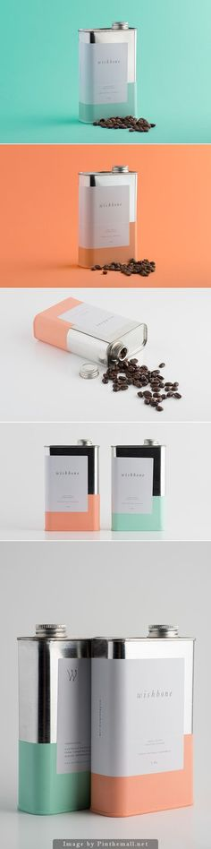 Wishbone Brew coffee packaging #packaging #design: