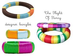 The Flight Of Fancy: Thread Wrapped Bangles DIY