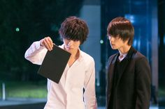 "[Preview, Ep.7] https://www.youtube.com/watch?v=CODDPN_PGt8    Kento Yamazaki, Masataka Kubota, Hinako Sano, Yutaka Matsushige.  J drama series ""Death Note"", 08/02/'15 [Ep. w/Eng. sub] http://www.dramatv.tv/search.html?keyword=Death+Note+%28Japanese+Drama%29"