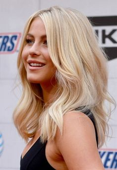 mid length hair... just like this for the wedding! But with a floral crown, duh. And less bleach blonde.