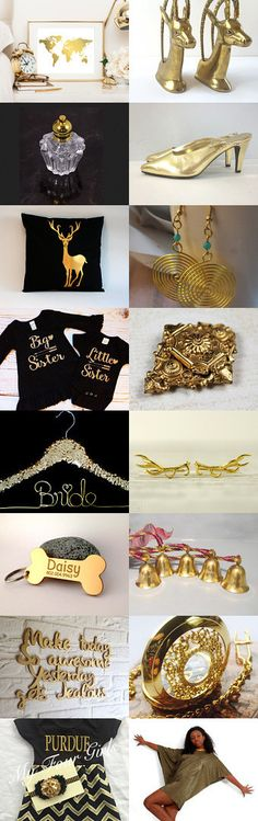 Golden Rain by Vera and Olga Weldon on Etsy--Pinned with TreasuryPin.com