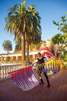 Flag performers at The Resort at Pelican Hill, Newport Beach, CA   www.pelicanhill.com/festa   #pelicanhill #pelicanhillfesta