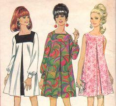 Perfect dress/tunic for dd: sale vintage womens sewing pattern mod dress mccall's 8945 bust Moda Vintage, Vintage Mode, Vintage Ladies, Vintage Outfits, Vintage Dresses, 1960s Dresses, 1960s Fashion, Vintage Fashion, Moda Mania