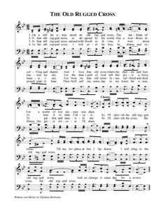 79 best praise and worship images on pinterest music notes sheet old rugged cross sheet music stopboris Images
