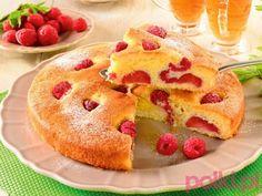 ucierany placek bezglutenowy z malinami przepis, przepis na ucierane ciasto bezglutenowe z malinami