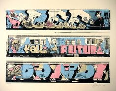 Graffiti art , before the birth of todays street artist . there was Graffiti ArT , done on the subways trains in the Graffiti History, New York Graffiti, Street Art Graffiti, Graffiti Images, Graffiti Artwork, Graffiti Drawing, Famous Graffiti Artists, Street Artists, Street Art Photography