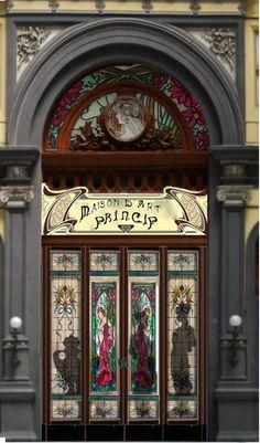 shop window with teaching art nouveau