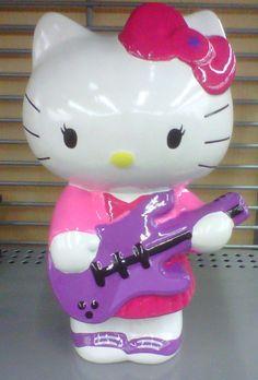 Hello Kitty Guitar / Music Player Ceramic Coin ~ Piggy Bank - BRAND NEW