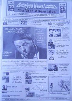 (Edizione Cartacea) Copia : Britalyca News Londra ( La Voce Alternativa) del 6 Marzo 2015