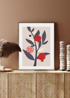VIVID FRUITS NO. 4 - buy illustrations art prints online order #art #prints #printshop #printsforsale #bedroomprints