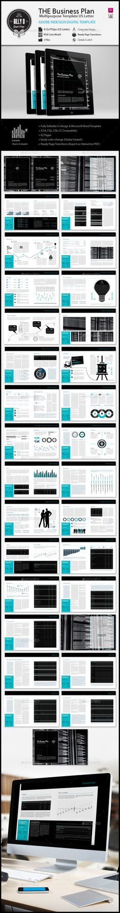 THE Business Plan Multipurpose v2 Digital Letter Business - financial plan template