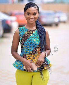2019 Stylish and Trendy Ankara Styles - Naija's Daily Ankara Styles For Women, African Dresses For Women, African Print Dresses, African Attire, African Wear, African Prints, African Fashion Ankara, African Inspired Fashion, African Print Fashion