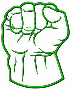 Hulk Fist | Hulk Green Fist Applique