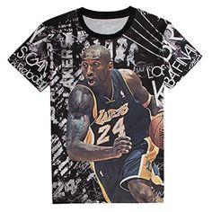 Men Kobe Bryant 3D Print Fashion Kobe Designed Black Lakers T Shirts XL - http://weheartlakers.com/lakers-shirts/men-kobe-bryant-3d-print-fashion-kobe-designed-black-lakers-t-shirts-xl