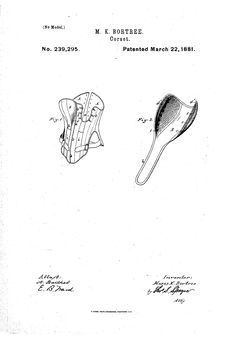 1881 Vertically adjustable bust  US patent 239,295  looks like a spoon to me...