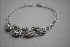 Sterling Silver Bracelet, Byzantine, Chainmaille Bracelet, Handmade, Lobster Clasp, Jewellery