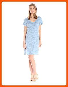 Michael Stars Women's Camo Print Short Sleeve Tee Dress, Indigo, XS - All about women (*Amazon Partner-Link)