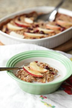 Baked Apple Spice Oatmeal (Gluten Free, Dairy Free)  So Good!