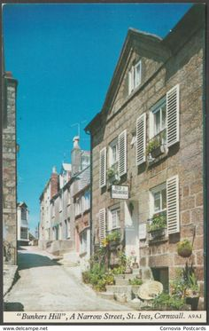 Bunkers Hill, St Ives, Cornwall, c.1970 - Harvey Barton Postcard